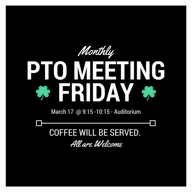 PTO Meeting - March 17th