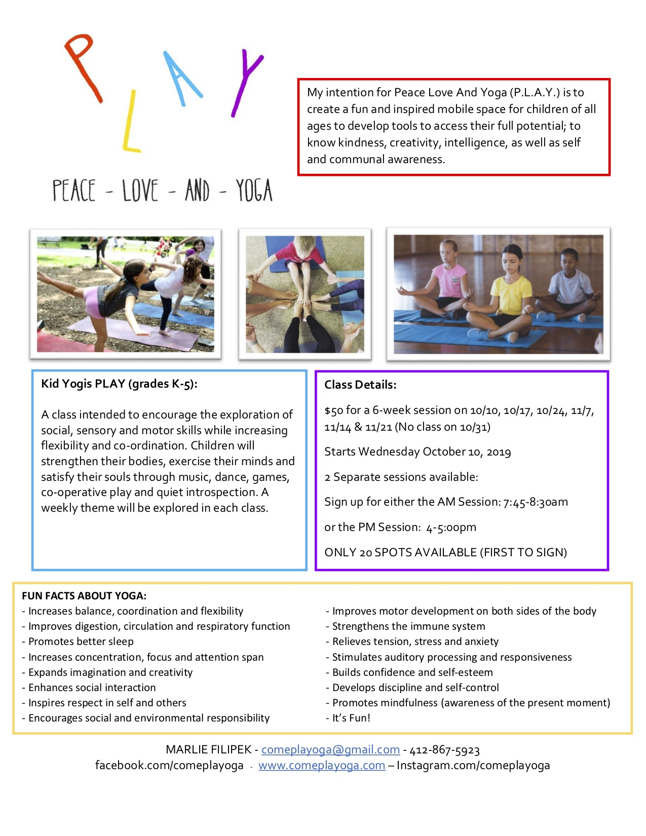 yoga flyer fall 2019